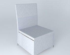 chair IBIZA light gray houses the world 3D