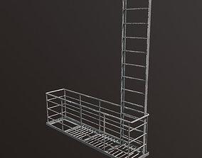 3D asset Fire escape section