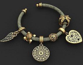 3D printable model Pandora Charms Gold Bracelet