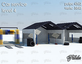 Car service level 3D model