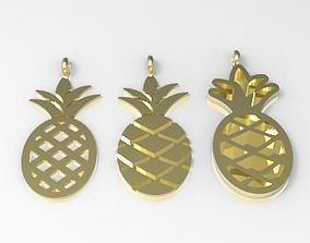3D printable model pineapple charms 15x7 mm