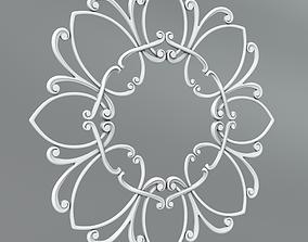 3D Carved rosettes 68