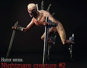 3D asset Nightmare Creature 2