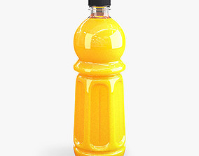 3D Orange bottle