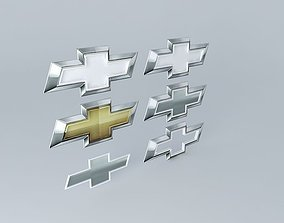 3D Chevrolet Logos