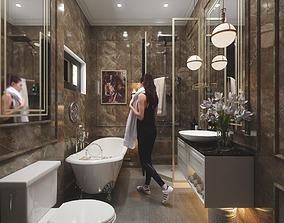 Vintage Bathroom 3D