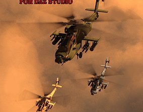 3D model Apache AH-64 Helicopter for DAZ Studio
