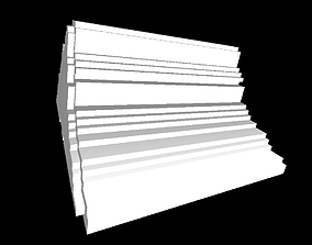 White stairs 3D print model