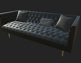 Chesterfield Sofa 3D asset game-ready