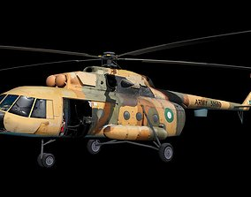 Low Polygon Mi-17 3D asset