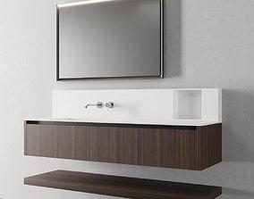 Cerasa NEROLAB SET 3 Vanity unit with drawers 3D model