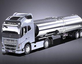 Volvo FH16 Globtrotter Tanker 2013-2015 VRAY 3D model
