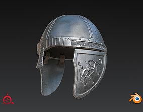3D Medieval Helmet High Poly