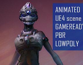 ScoreLetha Sci-fi girl Low-poly 3D model animated 1