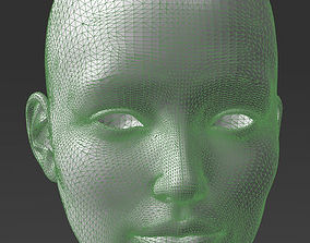 3D print model Solid female head 2