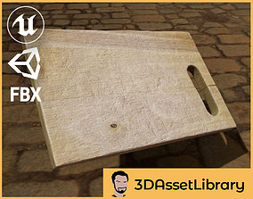 game-ready Chopping Board 3D Scan for Unreal and Unity and
