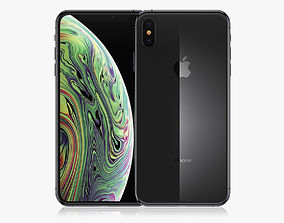 3D iPhone XS Max Space Gray