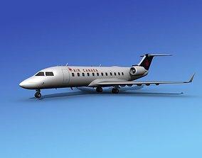 3D model Canadair CRJ100 Air Canada