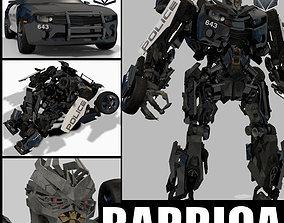 Barricade decepticon transformer - 3d animated animated