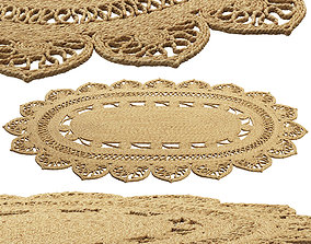 Safavieh Farideh Casual Oval Jute Rug 3D model