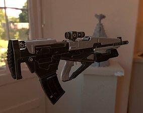 Machine Gun detailed gun 3D