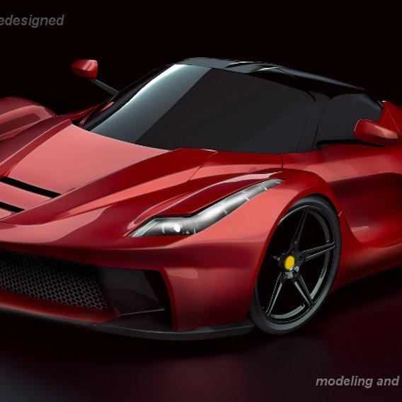 La Ferrari supercar concept restyled