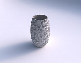 3D printable model Vase twisted with wavy grid piramides