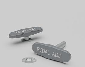 3D F16 Pedal Adjustment Handle