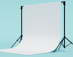 seamless 3D Studio Photography Backdrop with Tripods