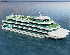 3D model Yacht 1