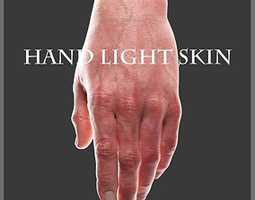 3D model Hand Light skin LowPoly CG