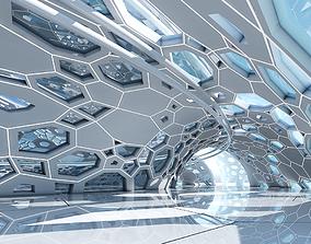 Futuristic Architectural Dome Interior 3D