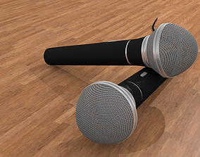 Microphone high detail 3D model