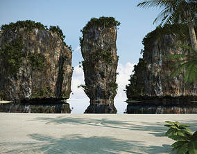 Tropical Beach 001 3D