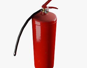 Dry powder fire extinguisher Low poly PBR 3D model