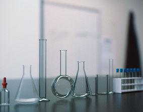 3D asset low-poly Laboratory Glassware - Lab Equipment