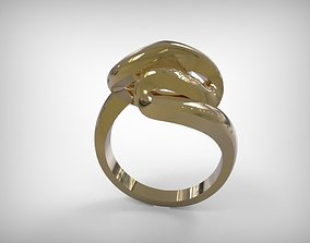 3D print model Jewelry Golden Twisted Ring