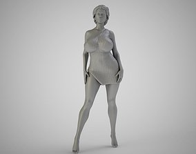 Woman in the Wild 3D printable model