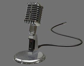 Retro Microphone 2A 3D model