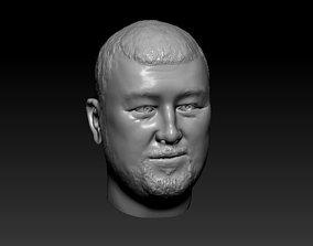3D print model Male head 23