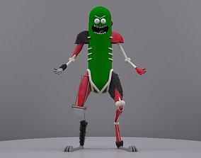Pickle Rick 3D asset