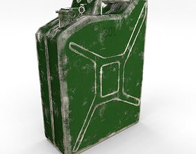 Jerry Can Low Poly Worn PBR 3D asset