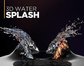 3D Water Splash juice