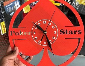 3D print model Poker stars wall clock