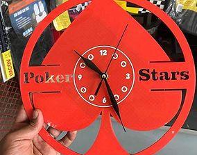 3D print model Poker stars wall clock