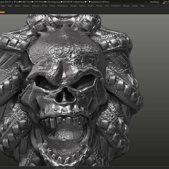 Skull Pendant 3d print model 21