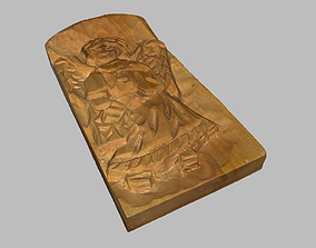 Wooden Relief Angle Handmade 3D model