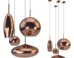 Copper Tall Pendant 3D model