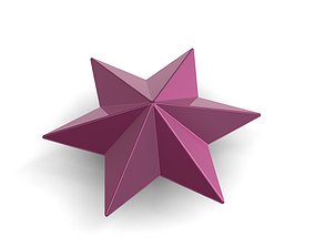 shiny 3D print model Christmas Star