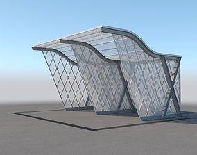 3D Carport Design With Steel Construction 4